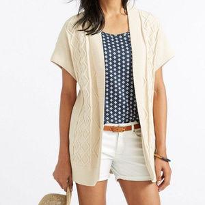 LL Bean Fisherman Kimono Cotton Sweater